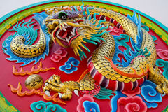 Dragon stucco reliefs, Chinese style Stock Image