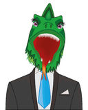 Dragon in suit Royalty Free Stock Photo
