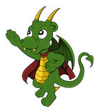Dragon superhero cartoon royalty free illustration