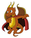 Dragon superhero cartoon Royalty Free Stock Image