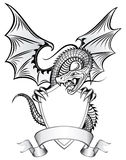 Dragon sur l'écran protecteur Photos libres de droits