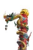 Dragon sur le fond blanc Image stock
