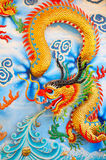 Dragon sur le mur Image stock
