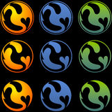 Dragon symbol Stock Images