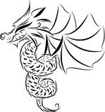 Dragon symbol Royalty Free Stock Photography