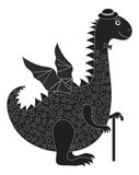 Dragon symbol of East New Years Stock Photography