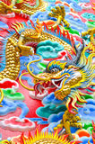 The Dragon. Is the symbol of power. Generality any kind of art decorated in Buddhist church, temple pavilion, temple hall, monk's house etc. created with money Royalty Free Stock Photos
