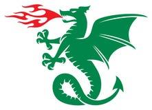 Dragon. Symbol,  sign,  vector Royalty Free Stock Photo