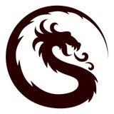 A Dragon Symbol. A symbol of the stylized dragon stock illustration