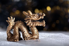 Dragon symbol of the year 2012. On a bright background Stock Photo
