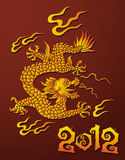 Dragon, symbol of the year. Traditional Chinese dragon, symbol of 2012 year, vector illustration Royalty Free Stock Images