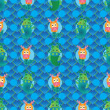 Dragon symmetry style seamless pattern Royalty Free Stock Photography
