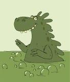 Dragon taking a bath Royalty Free Stock Image
