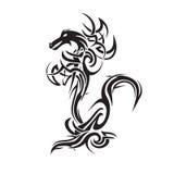 Dragon tattoo art vector Stock Images