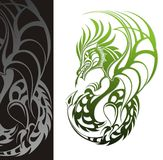 Dragon. Tattoo design Stock Photo