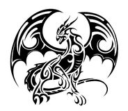 Dragon tattoo design Stock Photo