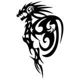 Dragon tattoo design, vintage illustration. Stock Photos