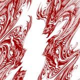 Dragon Tattoo Illustration Vector abstracto Fotografía de archivo libre de regalías