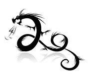 Dragon tattoo  illustration for your design.  Royalty Free Stock Image
