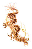 Dragon Tattoo Macro Isolated Royalty Free Stock Photo