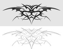 Dragon tattoo silhouette Stock Photos