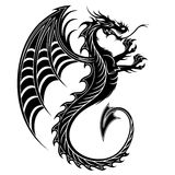 Dragon Tattoo Symbol-2012. Symbolic Dragon Black and White Tattoo