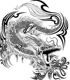 Dragon Tattoo Vector Royalty-vrije Stock Fotografie