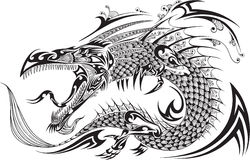 Dragon Tattoo Vector Stock Foto