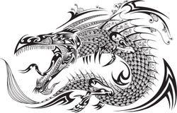 Dragon Tattoo Vector. Dragon Doodle Sketch Tattoo Henna Vector Stock Photo