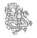 Dragon Tattoo Vector Illustration Stock Image