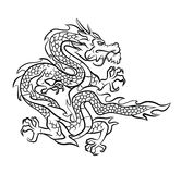 Dragon Tattoo Vector Illustration Royalty Free Stock Image