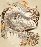 Dragon Tattoo Vetora ilustração stock