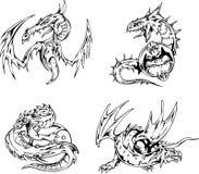 Dragon tattoos Stock Photos