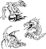 Dragon tattoos Royalty Free Stock Photo