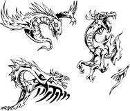 Dragon tattoos Stock Photos