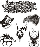 Dragon Tattoos Set Royalty Free Stock Photos