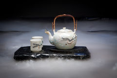 Dragon tea set Stock Image