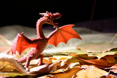 Dragon. Teddy wants to overthrow the dragon flame Stock Photography