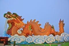 Dragon and temple Stock Photos