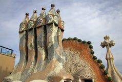 Dragon terrace of the Casa Batllo building in BARCELONA, CATALONIA, SPAIN Royalty Free Stock Image