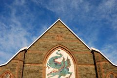 Dragon Theatre. An image of the dragon theatre in barmouth mid wales Stock Photography