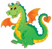Dragon theme image 1. Vector illustration Stock Photography