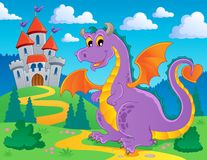 Dragon theme image 2. Vector illustration Stock Images