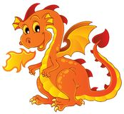 Dragon theme image 7. Vector illustration Royalty Free Stock Photo