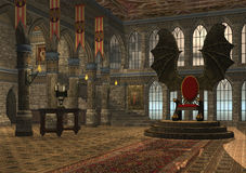 Dragon throne Stock Image