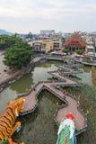 Dragon And Tiger Pagodas in Lotus Pond, Kaohsiung, Taiwan stock fotografie