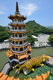 Dragon and Tiger Pagodas Royalty Free Stock Image