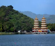 The Dragon and Tiger Pagodas in Taiwan Royalty Free Stock Image