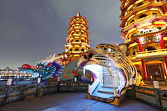 Dragon Tiger Tower Royalty Free Stock Photography