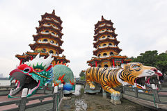 Dragon Tiger Tower Stock Photography